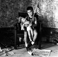 untitled (boy with flag) [christopher and the rebuilding of america] by ralph eugene meatyard